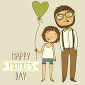 Fathers day greeting card — Stock Vector