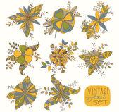 Set floreale vintage — Vettoriale Stock