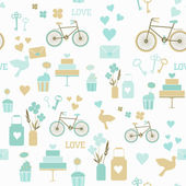 άνευ ραφής γάμου μοτίβο — Διανυσματικό Αρχείο
