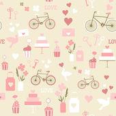 Naadloze bruiloft patroon — Stockvector