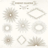 Sunburst collection — Stock Vector