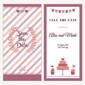 Two sides of the wedding invitation — Stock Vector