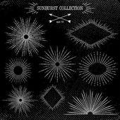 Sunburst collection — Vettoriale Stock