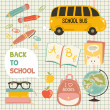 Cute school cartoon colection. ng of the school. Vector set — Stock Vector #50337687
