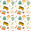 Постер, плакат: Cute school cartoon colection ng of the school Vector set