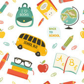 Cute school cartoon colection. ng of the school. Vector set — Stok Vektör