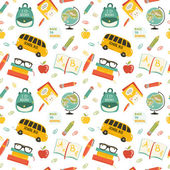 Cute school cartoon colection. ng of the school. Vector set — Vector de stock