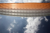 Paraglider wing bottom view — Stock Photo