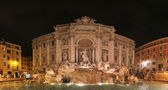 Fontana di Trevi at night — Stock Photo