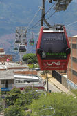 Metrocable in Medellin — Stock Photo