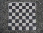 Black and White Checkerboard — 图库照片