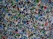 Glass Mosaic of Blue, Green, and Red — Stock Photo