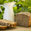 Homemade Rye Bread with Oatmeal — Stock Photo