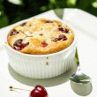 Clafouti with Sweet Cherries — Stock Photo