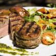 Stock Photo: Grilled Port Tenderloin Medallions