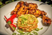 Spicy Buffulo Chicken and Coleslaw — Photo