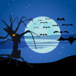 The halloween — Stock Vector