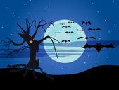 La noche de brujas — Vector de stock