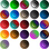 设置圆形按钮 — 图库矢量图片