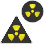 Radiation and bio hazard — Stock Vector