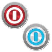 отключение кнопки — Cтоковый вектор