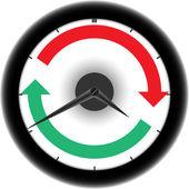 по часовой стрелке — Cтоковый вектор
