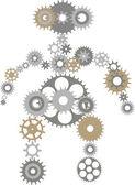Robot of gears — Stock Vector