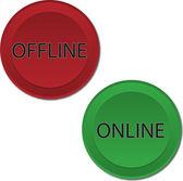 Online Offline buttons — Stock Vector