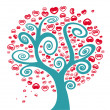 Tree of love — Imagen vectorial