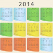 Calendar for 2014 year — Stock Vector