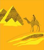 Egyptian pyramids — Stock Vector