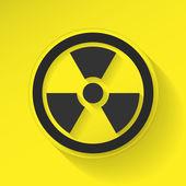 Señal de radiación — Vector de stock