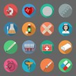 Medicine flat icons set — Vetorial Stock #36848951