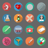 Medicine flat icons set — Stock Vector