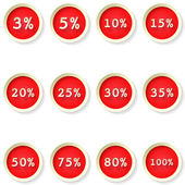 Sale percent price tag flat icons — Stock Vector