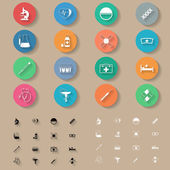 Medicine flat icons set — Stock vektor