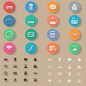 Ensemble de bureau plat icônes — Vecteur