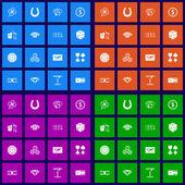 Casino flat icons set — Stock Vector