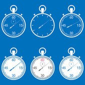 Stopwatch set — Stock Vector
