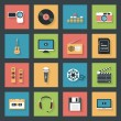 Multimedia icons set — Stock Vector #47938529