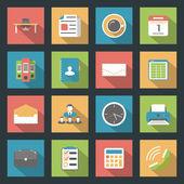 Office flat icons set — Stockvector