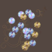 Daisy briefkaart — Stockvector