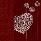 St.Valentine Day postcard — Stock Vector