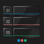 Glassy info graphic — Stock Vector