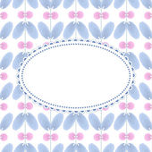 Flower pattern with vintage frame — Vecteur