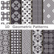 Set of ten geometric patterns — Stockvektor  #51113869