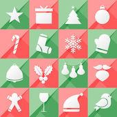 Set of twelve Christmas icons — 图库矢量图片