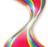 Disegno vettoriale astratta con linee multicolore — Vettoriale Stock