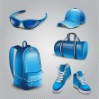 Vector realistic sport objects icons — Stockvectorbeeld