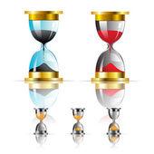 Vector sand clock icon — Stock Vector